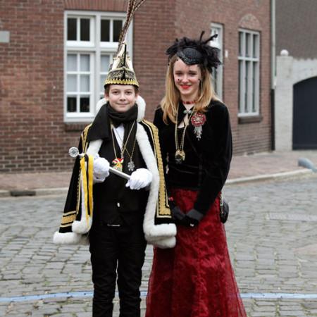 2012 Jeugdprins(es) Sam Megens en Eva Pluijm