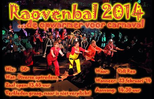 Poster Raovenbal 23 februari 2014