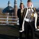 Prins Reinout XIX Fedor Kerkhof en adjudant Han Linders