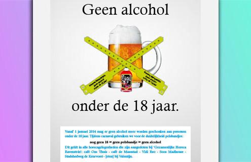 Alcohol beleid Carnaval 2014